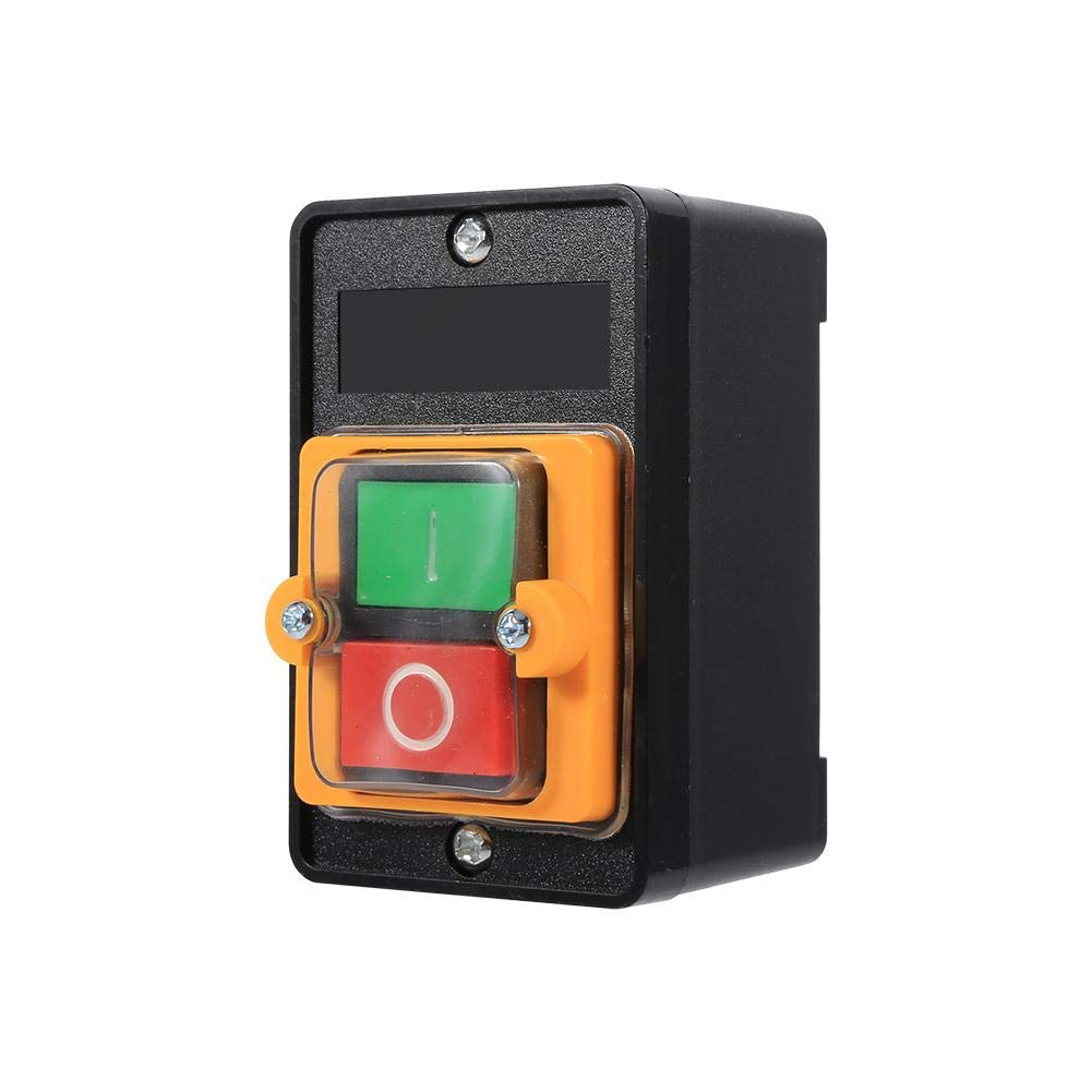 Qiilu Encendido/Apagado Accesorios de Máquina-Herramienta del Interruptor de botón 10A 380V Impermeable