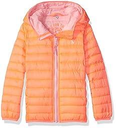 Joules Little Girls\' Kinnaird Padded Coat, Bright Orange, 2