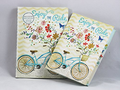 Molly & Rex Soft Cover Journal and Sticky Pad Portfolio Enjoy the Ride
