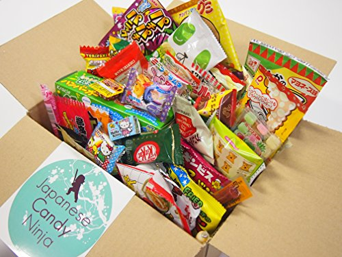 52-Japanese-Candy-and-Snack-Okashi-Set-with-original-Japanese-Candy-Ninja-sticker