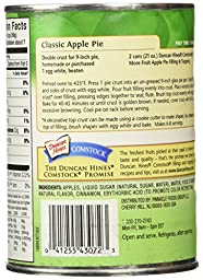 Comstock More Fruit Apple Pie Filling or Topping, 21-Ounce Cans (Pack of 6)