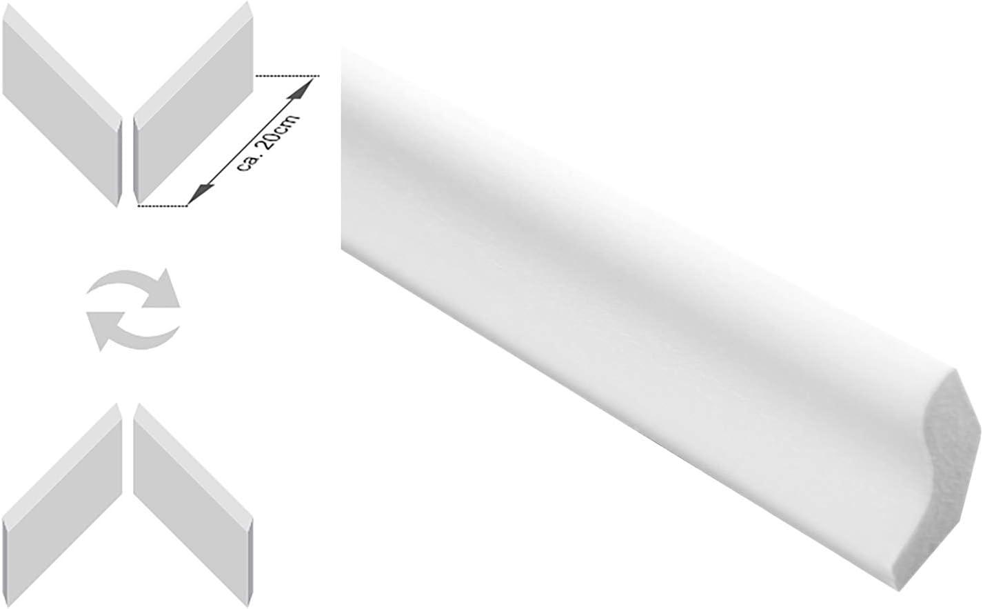SPARPAKET 2,3lfm Vorsatzleiste Deck- Abschluss- Sockelleiste Eiche LACK 20x15x2300mm 1 St/ück