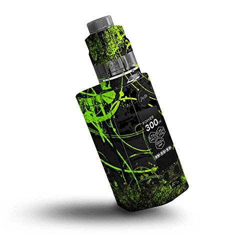 Price comparison product image Skin for Wismec Reuleaux RX GEN3 300W - Green Distortion| MightySkins Protective, Durable, and Unique Vinyl Decal wrap cover | Easy To Apply, Remove, and Change Styles | Made in the USA
