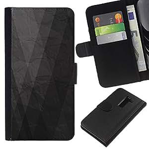 All Phone Most Case / Oferta Especial Cáscara Funda de cuero Monedero Cubierta de proteccion Caso / Wallet Case for LG G2 D800 // Grey Gray Paper Minimalist Pattern
