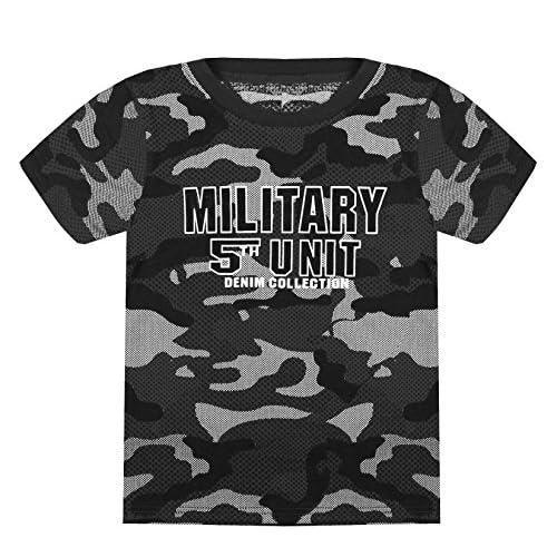18c001eab5 ZipZappa Niño Camiseta de Manga Corta con Estampado Militar 85% OFF ...