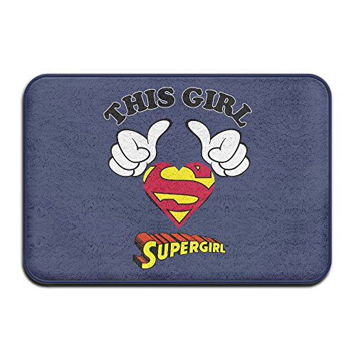 [VDSEHT This Girl Is Best Supergirl Melissa Benoist Non-slip Doormat] (Super Nerdy Costume)