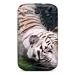 Brand New S3 Defender Case For Galaxy (swimming White Tiger)