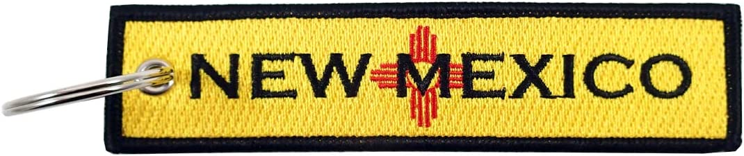 100/% Embroidered Luso Aviation New Mexico State Flag Key Chain