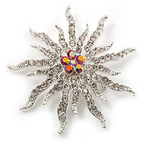 Gemstone Star Brooch (Corsage Sparkling Crystal Star Brooch)
