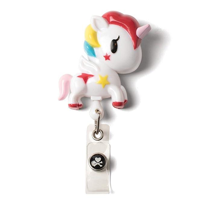 84f9c367a1a Amazon.com: Tokidoki Unicorno Retractable Badges: Clothing