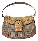 Coach Soho Studded Buckle Flap Shoulder Bag, Khaki / Whiskey F11517