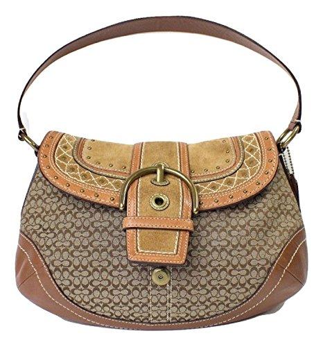 uckle Flap Shoulder Bag, Khaki / Whiskey F11517 (Soho Flap Handbag)