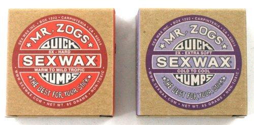 Sex Wax Quick Humps Mr Zogs Cire pour planche de surf Couche de base et finition eau froide
