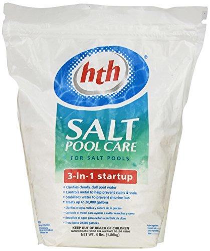 Hth Salt - HTH 66527 Salt System 3 in 1 Start Up Pool Care, 4 lb.