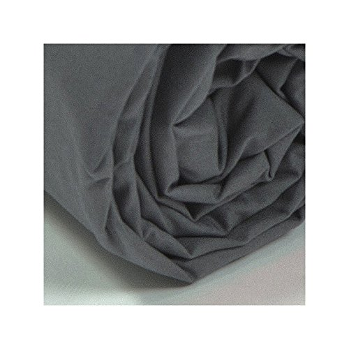 Gris Couleur Drap House Percale 120x190 Bonnet 30 cm