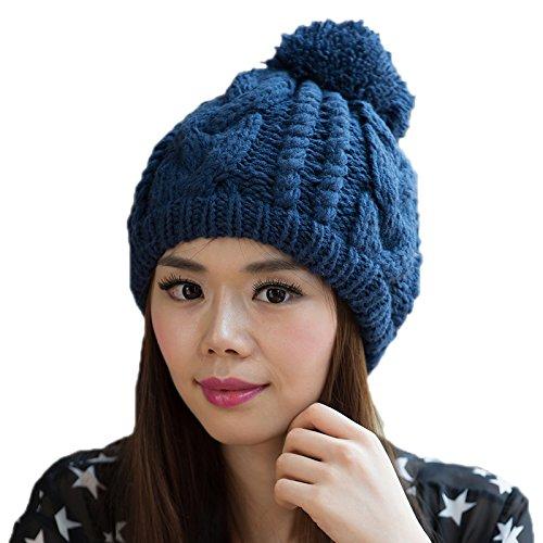 Las señoras Coreano Coreana Punto 1 Punto Lana Sombrero 2 de Sombrero del Sombrero Invierno Maozi a de Bromista Moda de 0dw8q8p