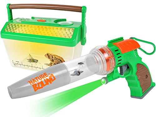 Nature Bound Bug Catcher Vacuum with Light Up Critter Habitat Case for Backyard Exploration - complete kit for kids - Kid Kit Box
