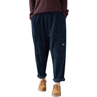 Pantalones de Mujer Trousers Moda Salopette Pantalón Jogger Largos ...
