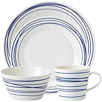 Royal Doulton Pacific 4 Piece Set Lines Dinnerware Set Multiple  sc 1 st  Amazon.com & Amazon.com: Royal Doulton Pacific 4 Piece Set Lines Dinnerware Set ...