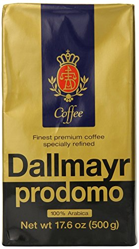 - Dallmayr Gourmet Coffee, Prodomo (Ground), 17.6-Ounce Vacuum Packs - Pack of 3