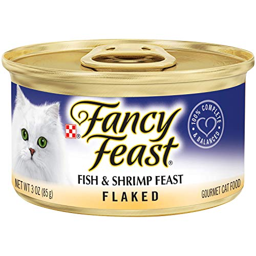 Purina Fancy Feast Wet Cat Food; Flaked Fish & Shrimp Feast - 3 oz. Can(Pack of 24) ()
