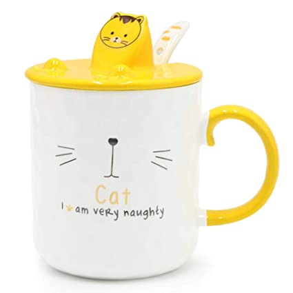 Amazon Com Epfamily Cat Mug Cute Funny White Ceramic Tea Cups With