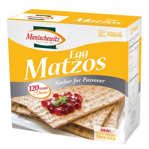 Manischewitz Passover Egg Matzo, 12 Ounce Boxes (Pack of 6) by Manischewitz