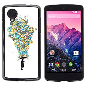 YOYOSHOP [Cool Bubble Thoughts Colorful ] LG Google Nexus 5 Case