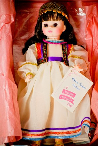 c.1979 - Madame Alexander - #1412 - Opera Series - Salome Doll - 14 Inches - Brown Hair / Brown Eyes - Purple & Gold Adorned Cap - 3 Beaded - Hose Beaded