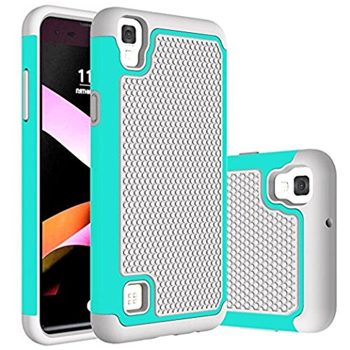 LG Tribute HD Case, LG X Style Case, LG Volt 3 Case, Urberry Shockproof Slim Brush Texture Hybrid Dual Layer Protective Case Cover For LG Tribute HD / LG X Style / LG Volt 3 (Grey and (Tribute Hybrid)