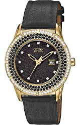 Citizen Women's FE1112-06E Drive From Citizen Eco-Drive TTG Analog Display Japanese Quartz Black Watch