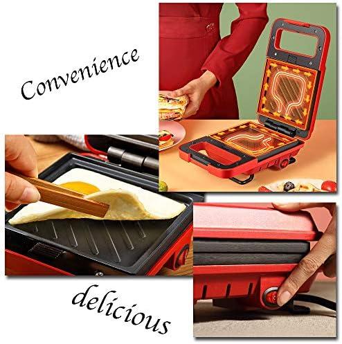 Beignet petit gaufrier multi-fonction gaufrier cuisson Pan Sandwich fabricant paninis hachage Browns Cool poignée tactile