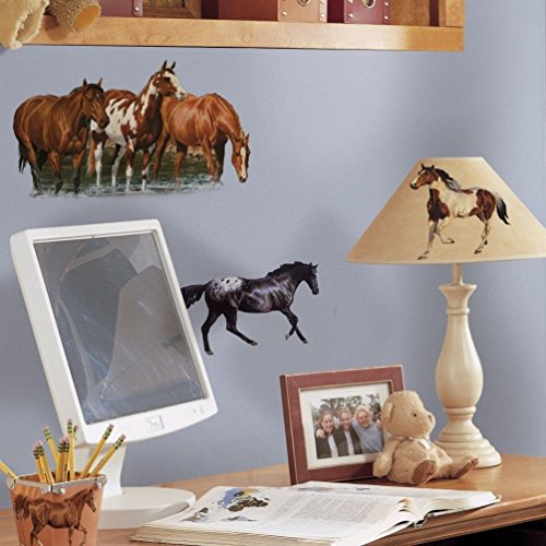 Lunarland WILD HORSES 24 Wall Stickers Room Decor WESTERN Ranch Decals Farm Decorations