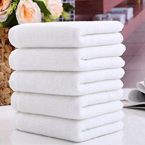 Softmusic 1 Pcs White Hotel Spa Soft Towel Washcloths Bathroom Hand Towels 30x70cm
