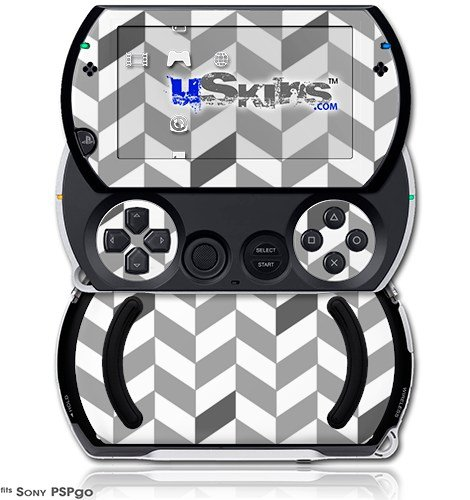 Chevrons Gray And Charcoal - Decal Style Skins (fits Sony PSPgo)