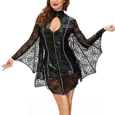BOOMLEMON Women's Cozy Bat Costume Sexy Halloween Cosplay Costumes