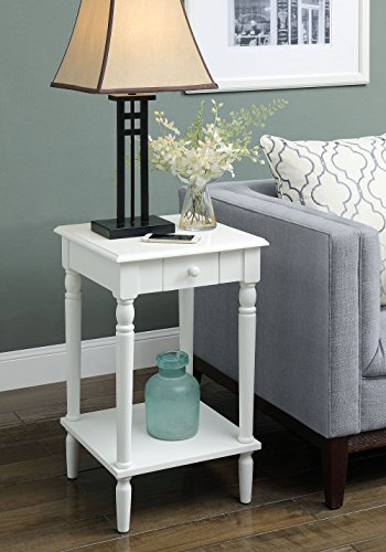 (Convenience Concepts French Country End Table, White )