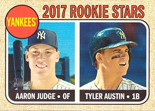 (2017 Topps Heritage Baseball #214 Aaron Judge/Tyler Austin Rookie Card - New York Yankees)