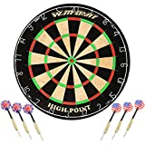 WIN.MAX Blade 18'' Bristle Dartboard Steel Tip Dart Board with Flights, Finger Grip Wax, Darts (18'' Bristle Dartboard)