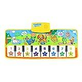 Joyibay Kids Music Mat Dance Mat Animal Electronic Piano Keyboard Carpet Sound Play Mat for Toddler
