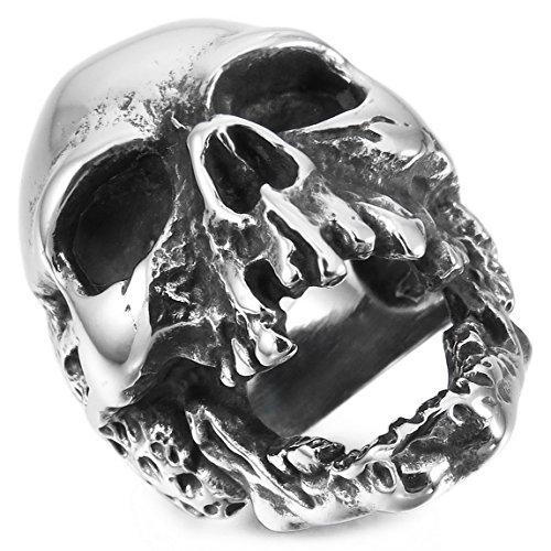 INBLUE Stainless Steel Silver Skull