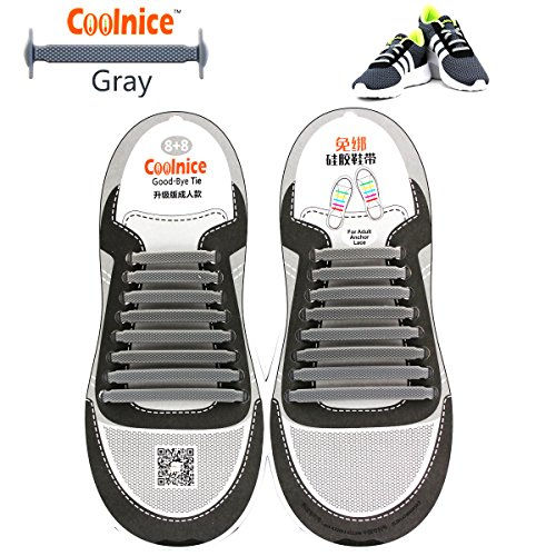 Coolnice No Tie Shoelaces for Kids, Men & Women | Waterproof & Stretchy Silicone Tieless Shoe Laces | for Athletic & Dress Casual Shoes, Hiking Boots | Eliminate Loose Shoelace - Funky Pair Shipping
