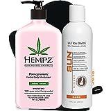 Hempz Herbal Body Moisturizer, Light Pink, Pomegranate, 17 Fluid Ounce | Self Tanner Review