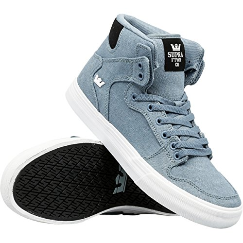 Supra Mens Vaider Shoes Size 10 Slate/Black/White