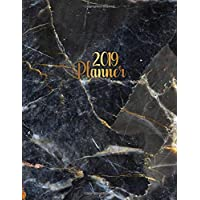 2019 Planner: Tundra gray marble planner with weekly, to-do lists, inspirational quotes and funny holidays. The perfect golden 2019 organizer with ... and much more. (Marble Planners, Band 41)