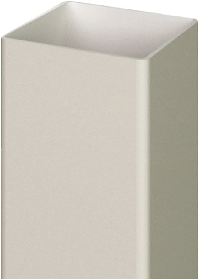 x 9 ft 5 in x 5 in White Vinyl Routed Fence End Post