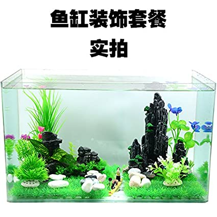 JXC-El Acuario El acuario rocalla ornamentos simulación del agua rocalla artificial de plantas y