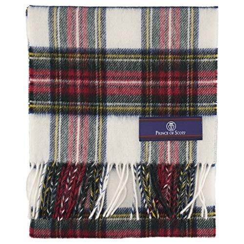 Prince of Scots 100% Pure Merino Lambswool Tartan Scarf (Dress Stewart, - Tartan Stewart Dress