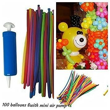 100 Pcs Magic Long Animal Balloon Mixed Colour Tying Making Balloons Twist Latex
