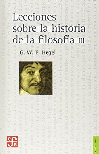 Lecciones sobre la historia de la filosofía (Volumen III)